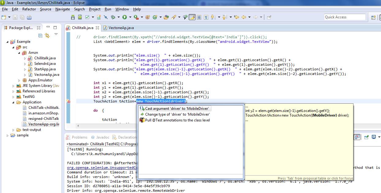 Andoid Appium coding examples - Tutorials/Documentation