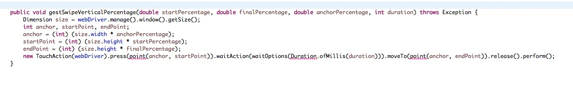 How to use touch action in new java client 6 0 0-BETA4