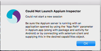 Appium inspector throws error on launch - Support - Appium