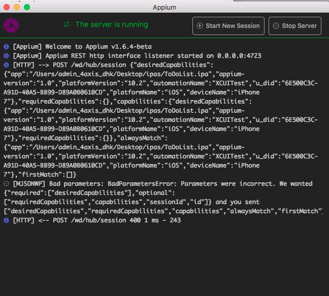 TestNG - Original error: You must include a platformName