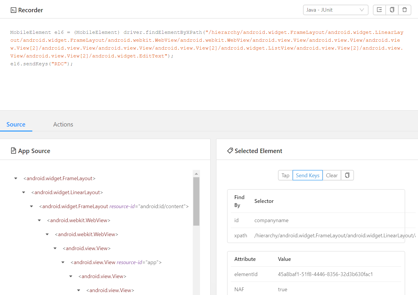 Appium Desktop Recorder uses XPath instead of Id - Issues/Bugs