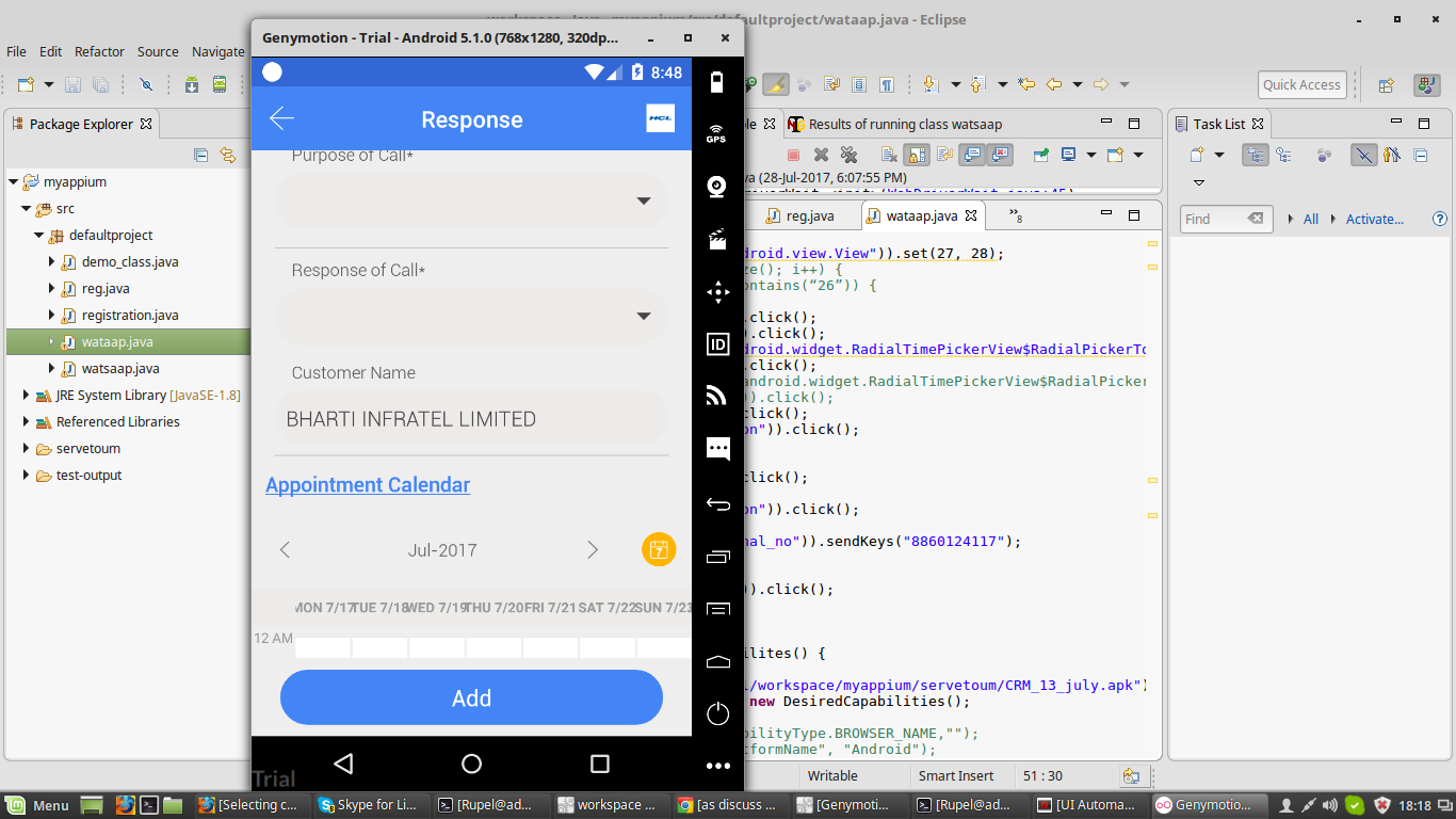 How can I scroll to an element in Appium? I'm using Android Native