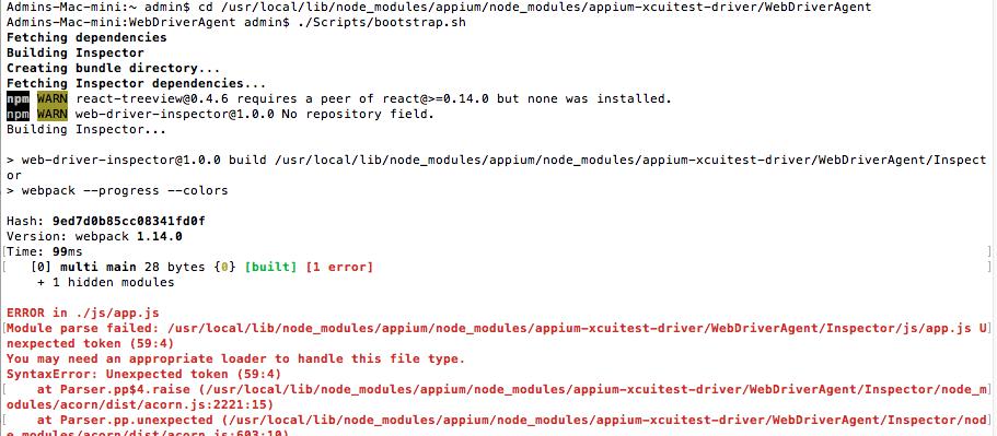 WebDriverAgent project file missing [SOLVED] - Support